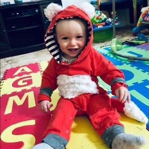 Pat pat 12 mo baby toddler Fox costume one piece